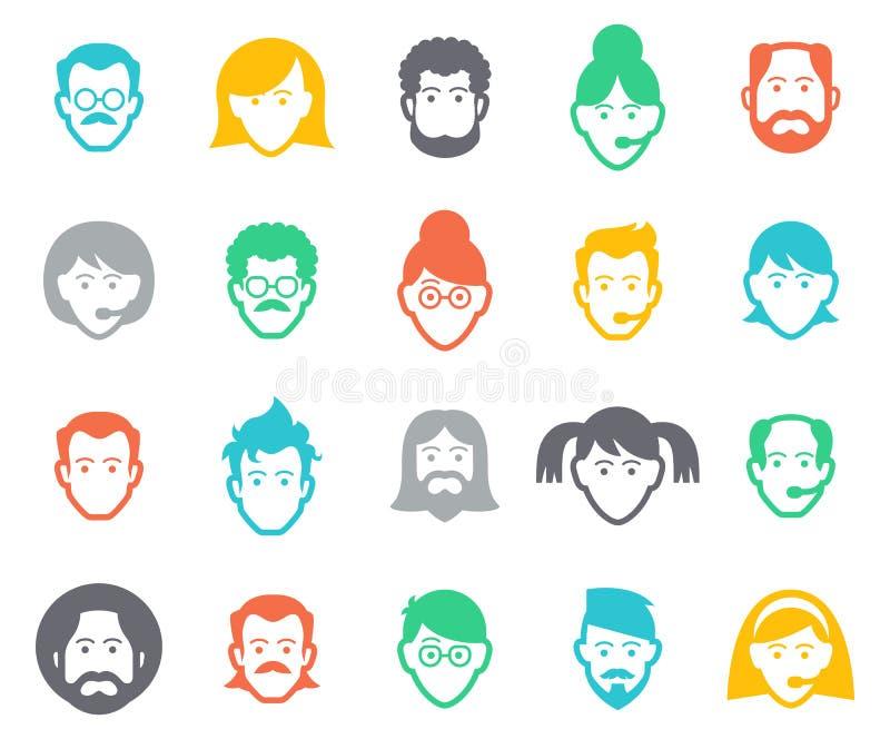 Avatar e iconos de la gente libre illustration