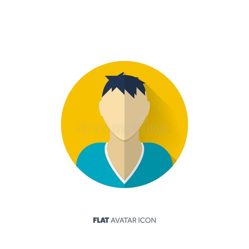 Avatar in een vlakke stijl persoon Sociale Media tiener Mannelijk of vrouwelijk gezicht stock illustratie