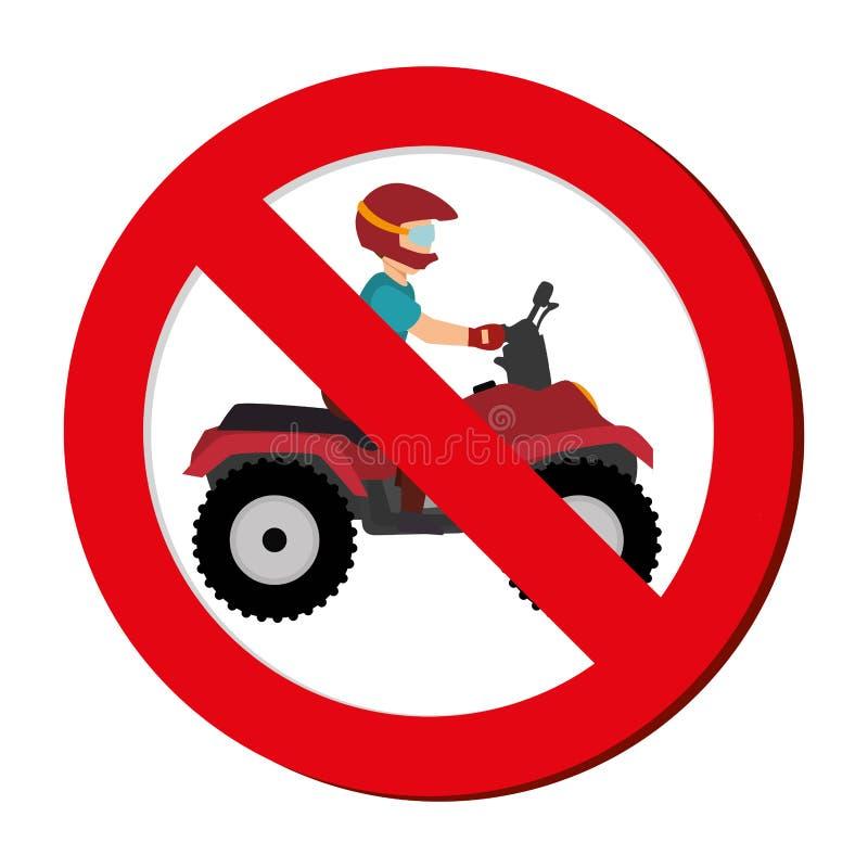 avatar extrême interdit d'athlète de sport de signe illustration de vecteur