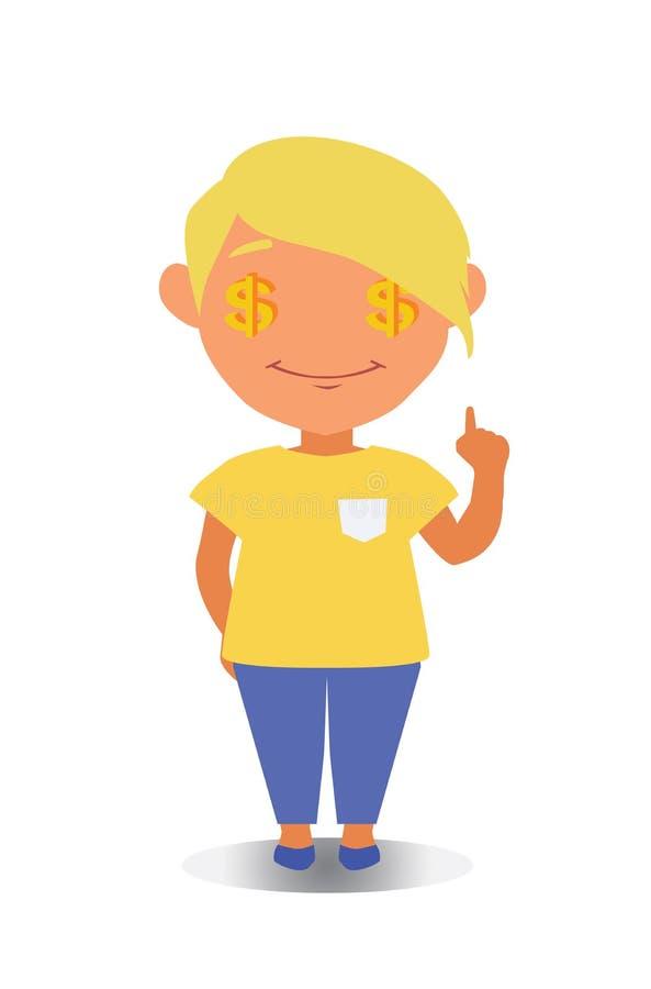 Avatar feliz, sorrindo e de riso do personagem de banda desenhada no vetor liso ilustração royalty free