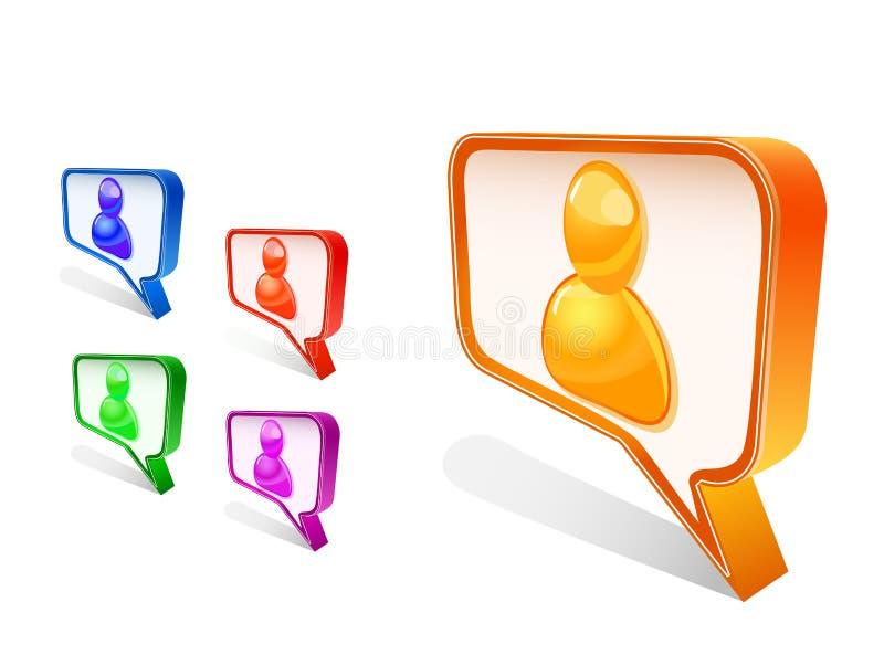 avatar gadki ikony ludzie ustawiającego znaka royalty ilustracja