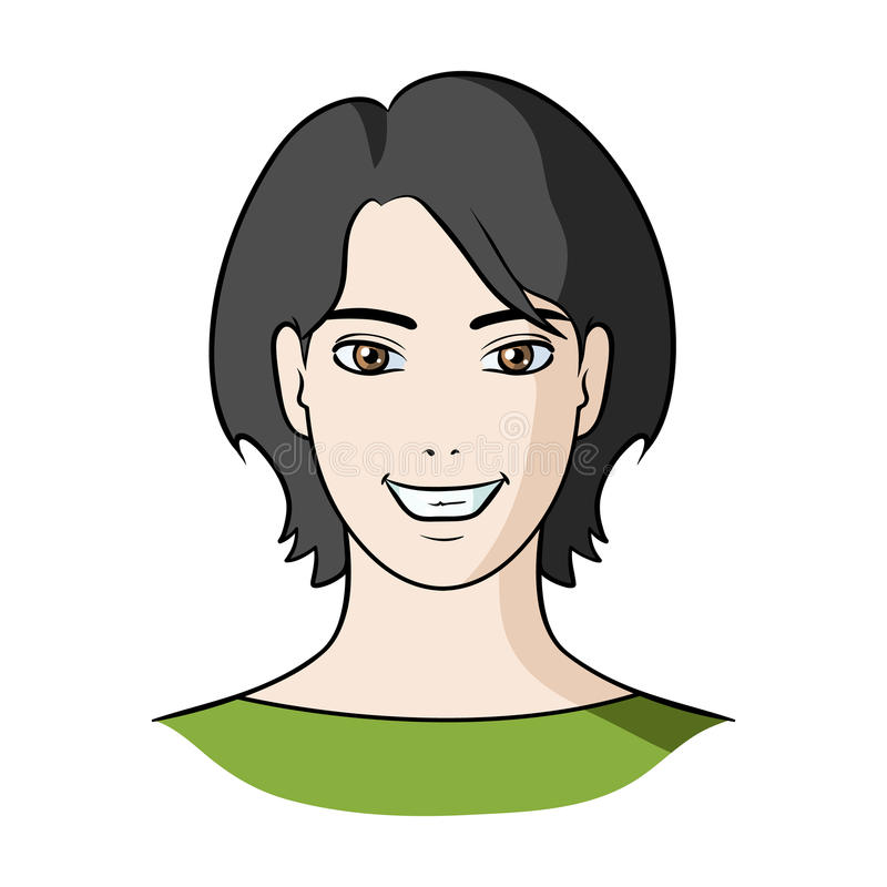 avatar girl with short hairavatar and face single icon in