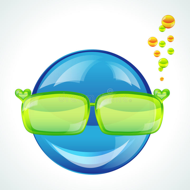 Avatar in green sunglasses royalty free stock images