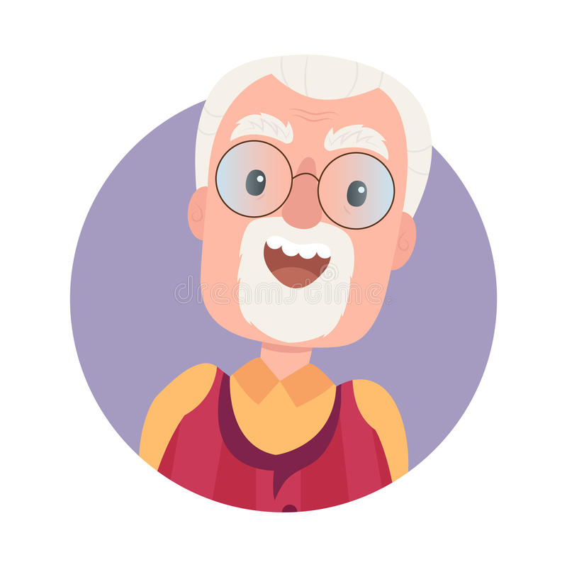 Old Cartoon Character With Big Glasses