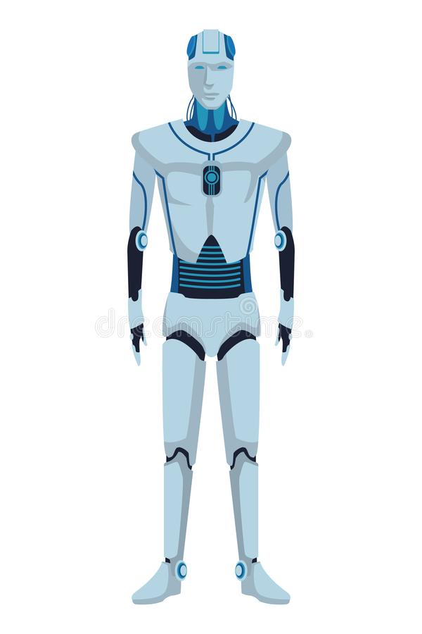 Avatar Humanoid do rob? ilustração stock