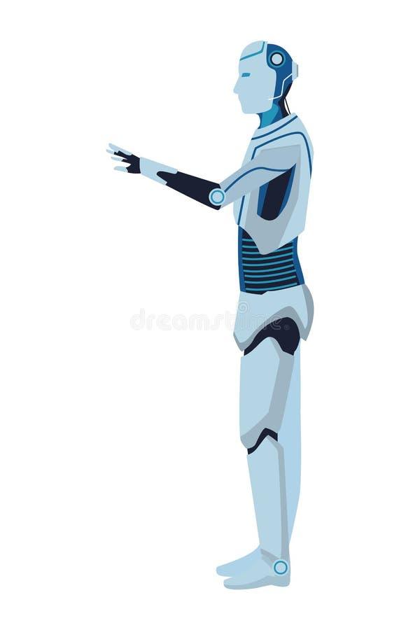 Avatar Humanoid do rob? ilustração royalty free