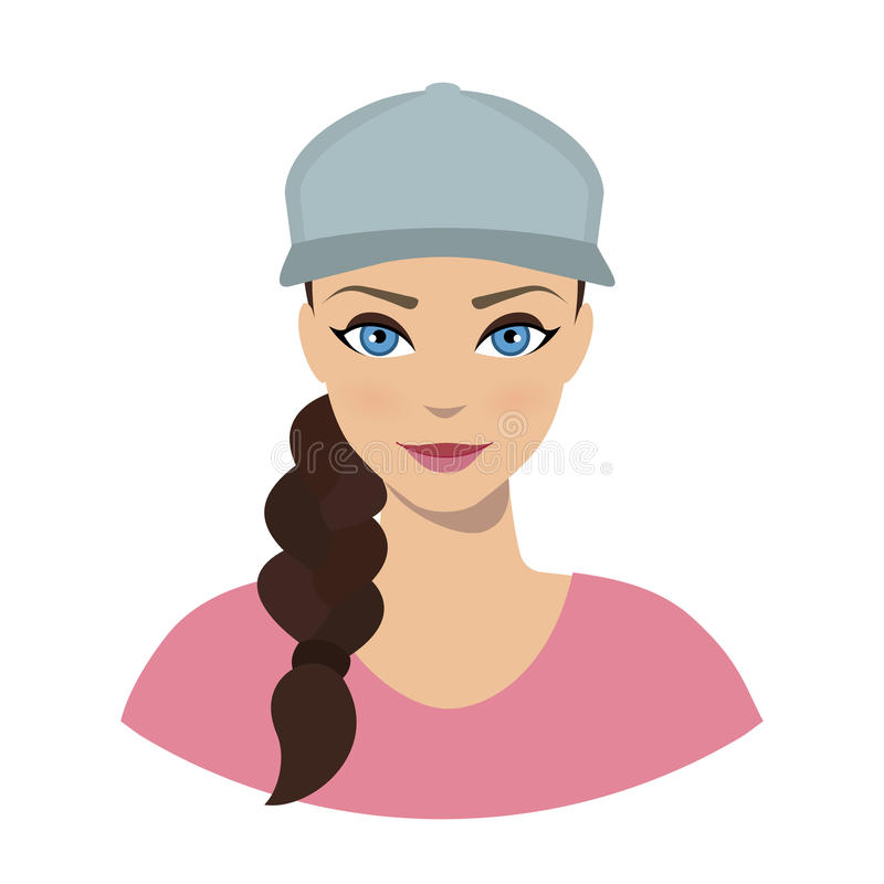 Free Avatar Icon Of Girl In A Baseball Cap Royalty Free Stock Photo - 73529025