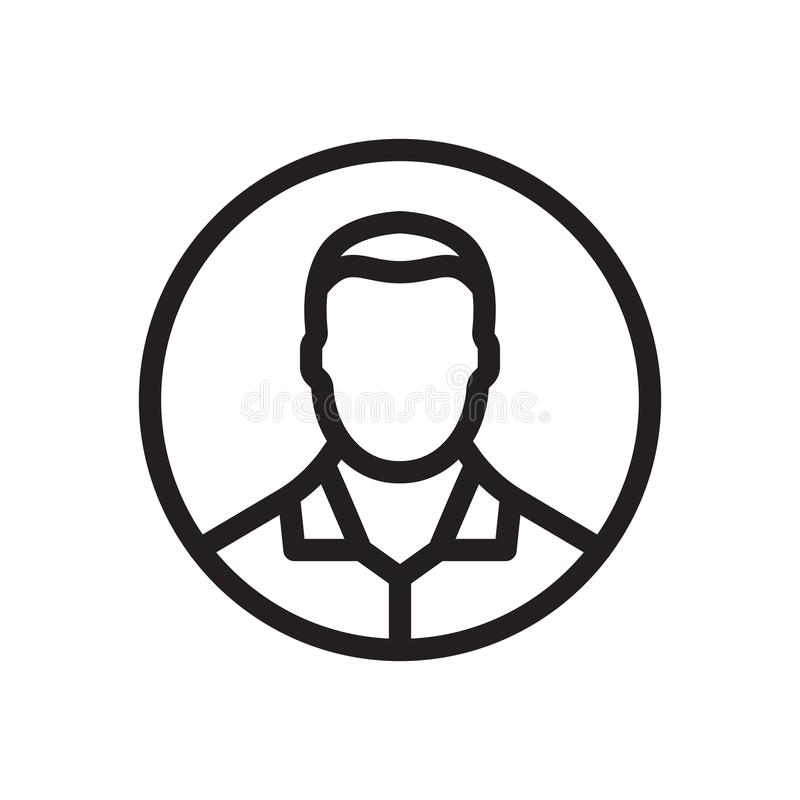 Avatar icon, social icon. Outline bold, thick line style, 4px strokes rounder edges royalty free illustration