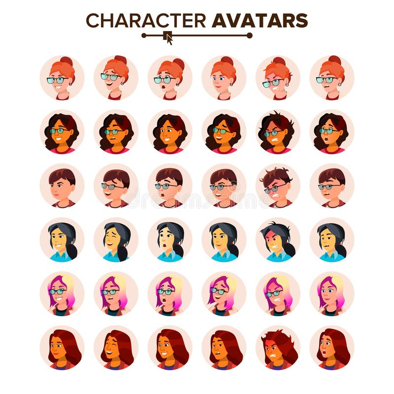 Avatar Icon Woman Vector. Default Placeholder. Colored Member. Cartoon Character Illustration. Avatar Icon Woman Vector. Comic Emotions. Flat Handsome Manager vector illustration