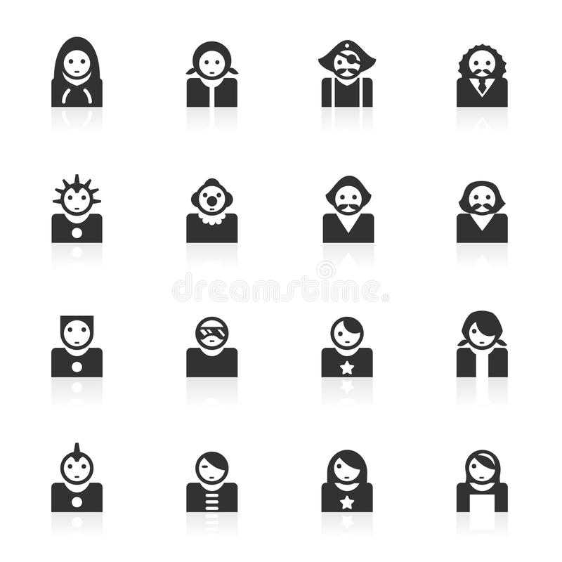 Download Avatar Icons 2 - Minimo Series Stock Illustration - Image: 15632497