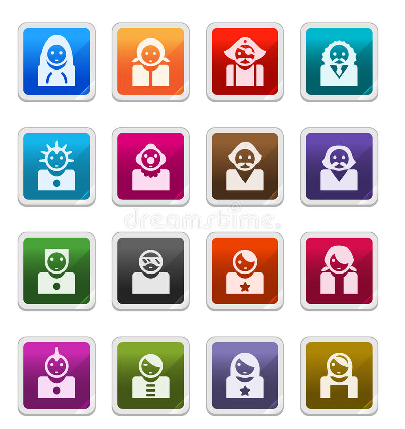 Download Avatar Icons 2 - Sticker Series Stock Illustration - Image: 15636784