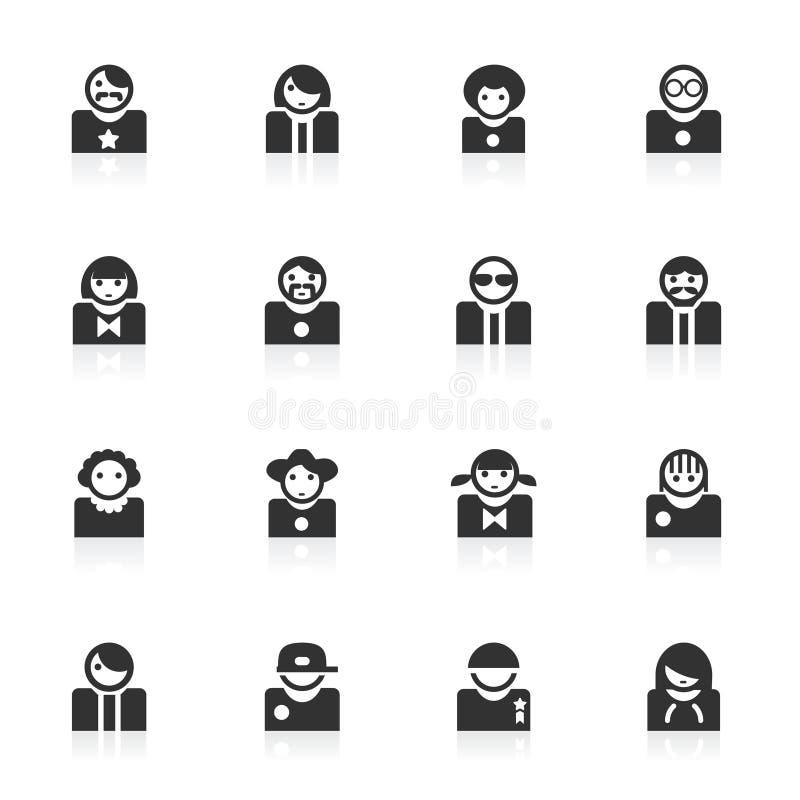 Download Avatar Icons  -  Minimo Series Stock Illustration - Illustration of graphic, pictogram: 15323252