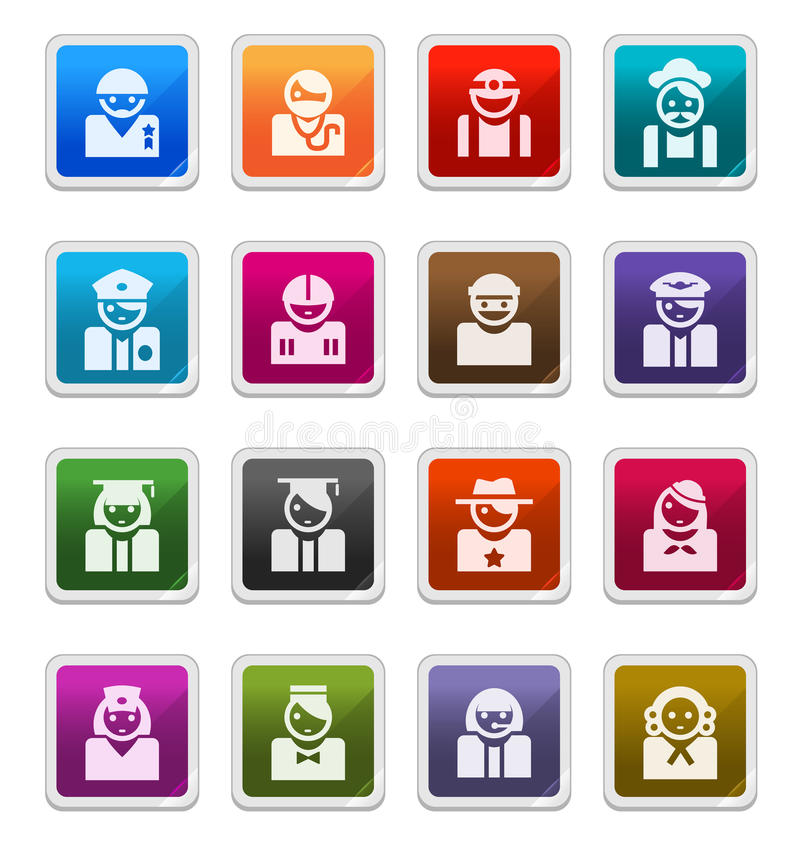Download Avatar  Icons (occupations) - Sticker Series Stock Illustration - Image: 15636811