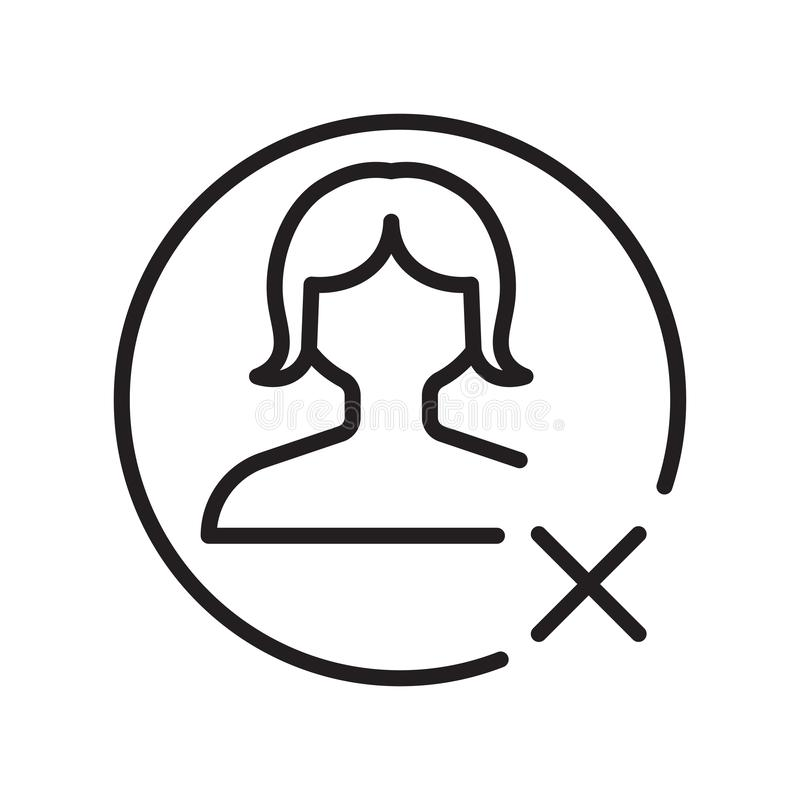 Avatar ikony wektoru znak i symbol odizolowywający na białym tle, Avatar logo pojęcie, konturu symbol, liniowy znak ilustracja wektor