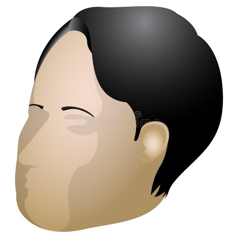 Avatar isolato dell'uomo 3D royalty illustrazione gratis