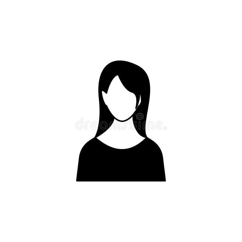 avatar kobiety ikona royalty ilustracja