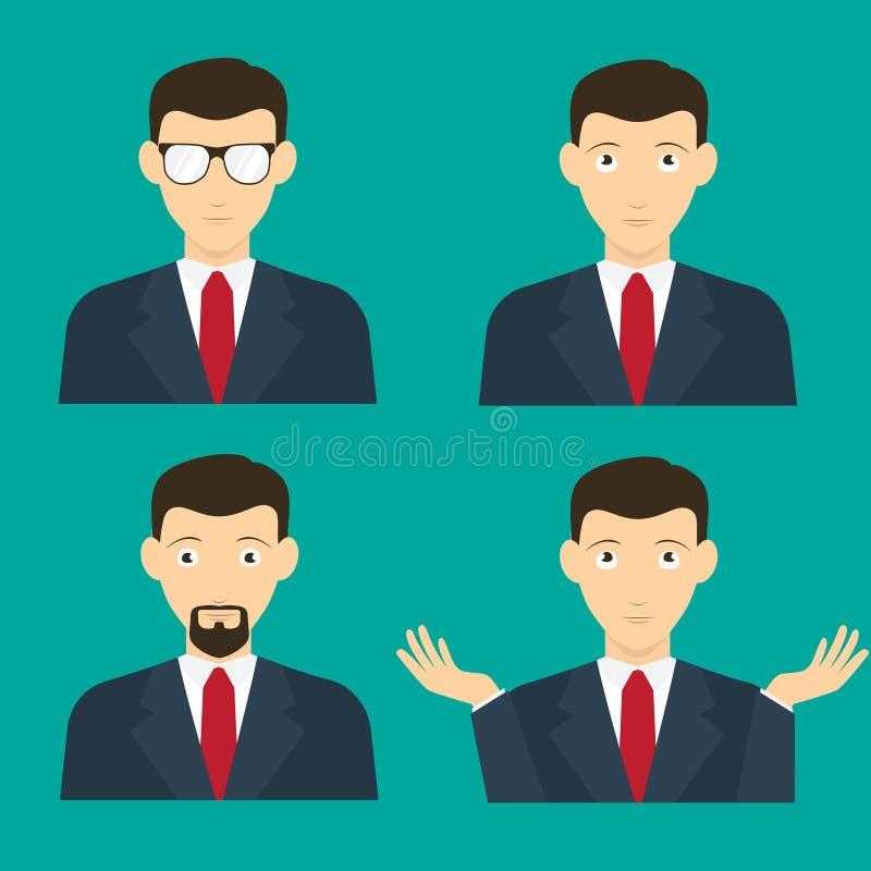 Avatar męskiej twarzy Płaski projekt ilustracja wektor