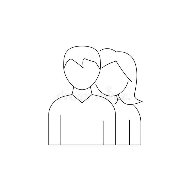 Avatar of a man and a woman icon. Element of head hunting icon. Premium quality graphic design. Signs, outline symbols collection. Icon for websites, web design royalty free illustration