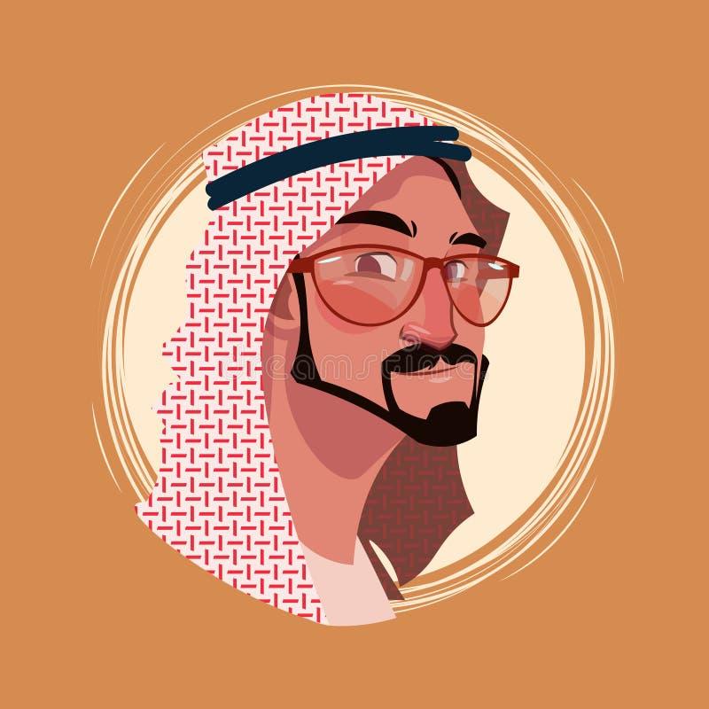 Avatar maschio di emozione dell'icona di profilo, fronte sorridente felice del ritratto del fumetto dell'uomo dei pantaloni a vit illustrazione vettoriale