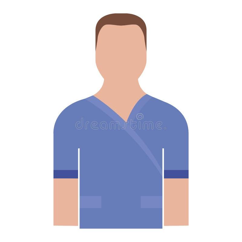 Avatar maschio isolato dell'infermiere illustrazione vettoriale