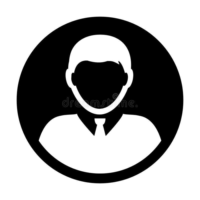 Avatar masculino do perfil de usuário do vetor do ícone da pessoa ilustração royalty free