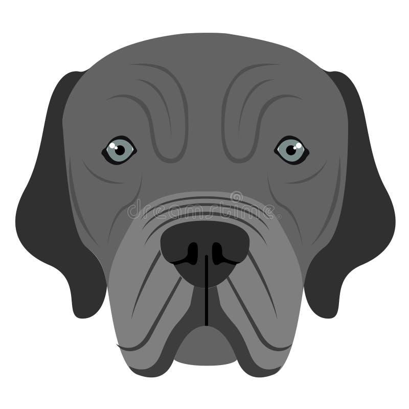 Avatar napolitano del mastín ilustración del vector
