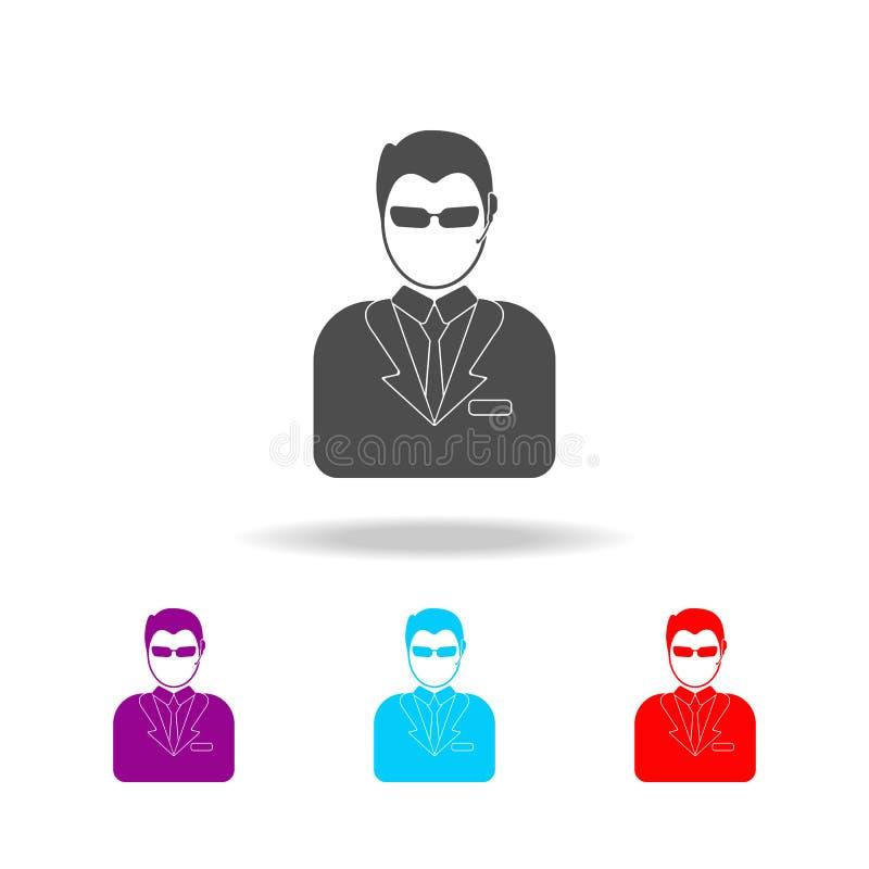 avatar ochroniarz ikony Elementy avatars w wielo- barwionych ikonach Premii ilości graficznego projekta ikona Prosta ikona dla na ilustracji