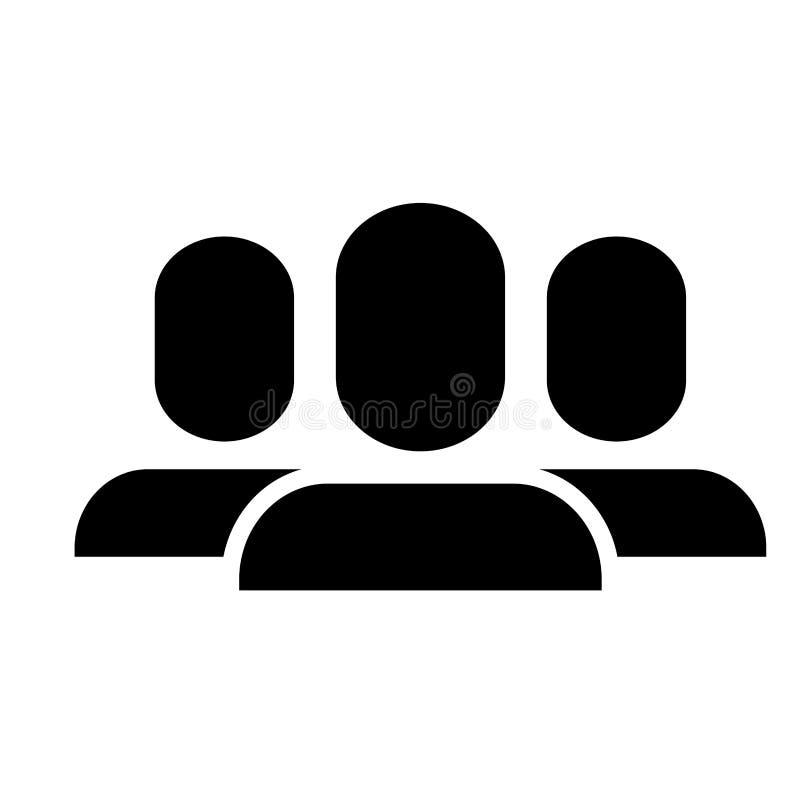 Avatar people icon. Over white background. illustration stock illustration