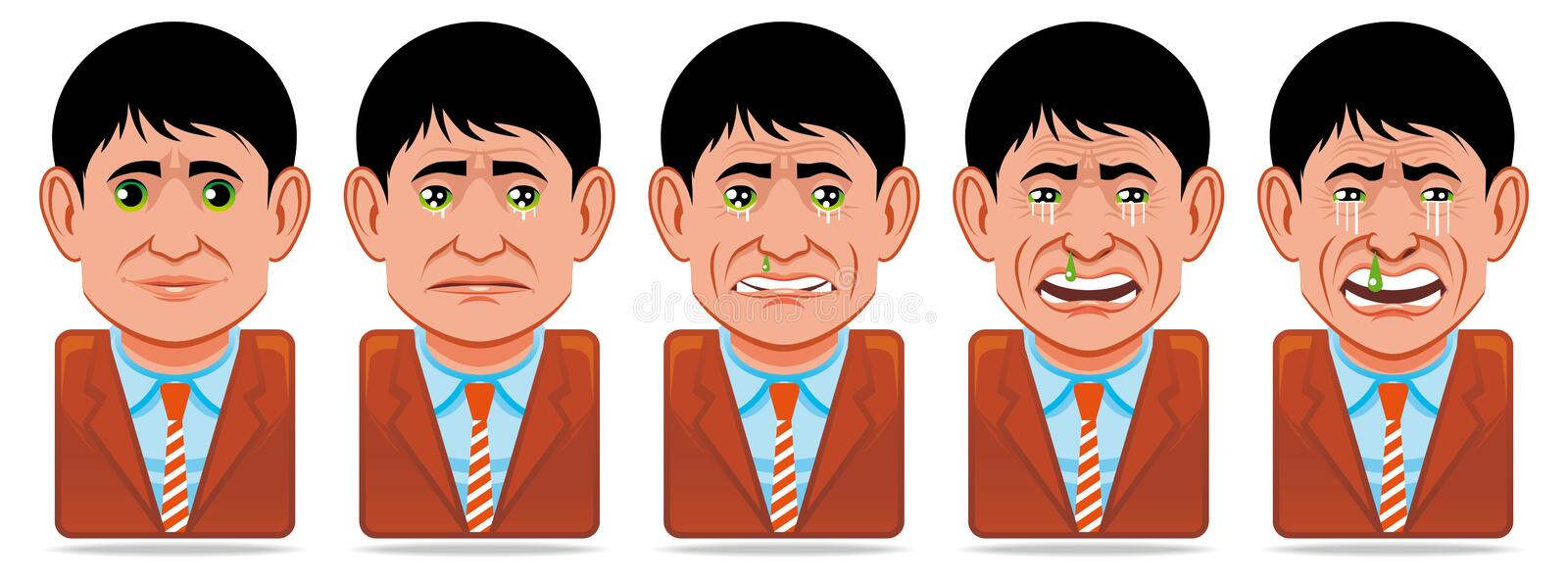 Download Avatar People Icons (facial Expression:sadness) Stock Image - Image: 13876541