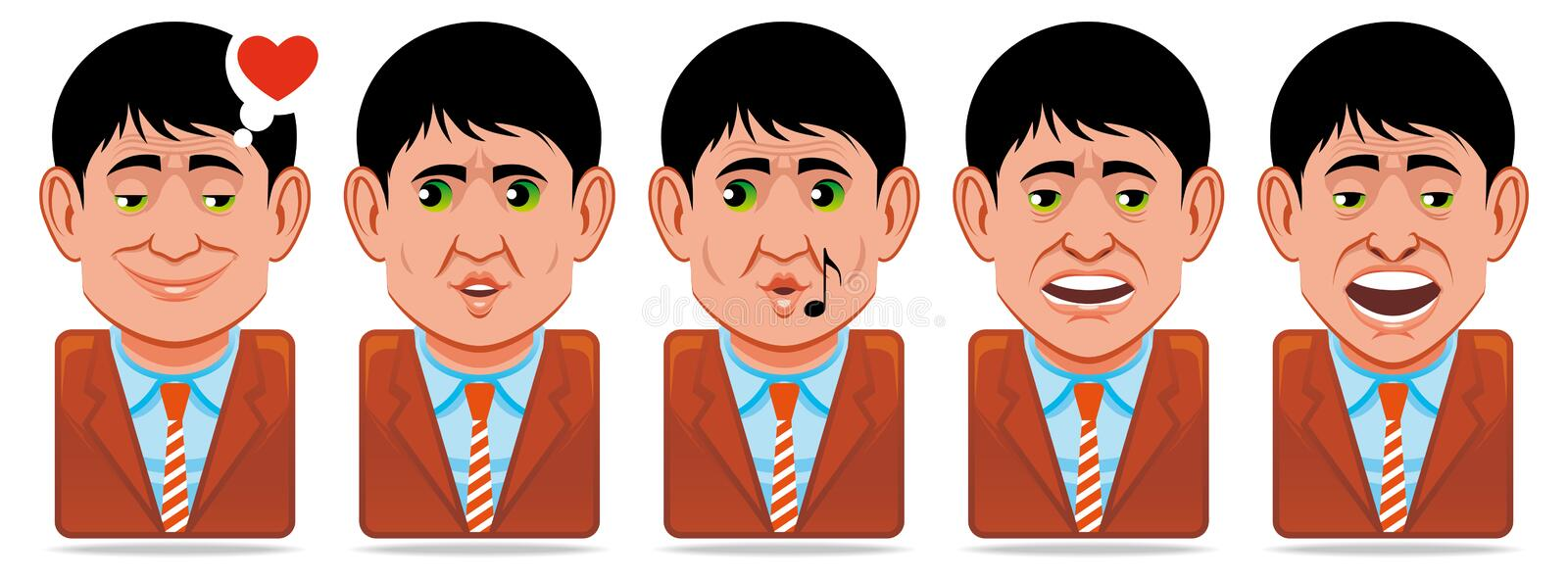Download Avatar People Icons (facial Expressions:in Love,wh Stock Illustration - Image: 13933785