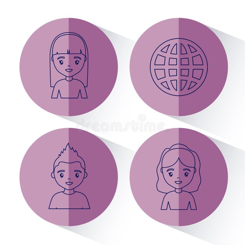 Social network design vector illustration