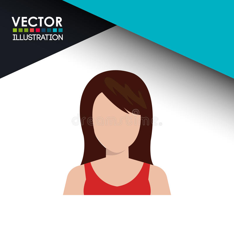 Avatar person design. Illustration eps10 graphic royalty free illustration