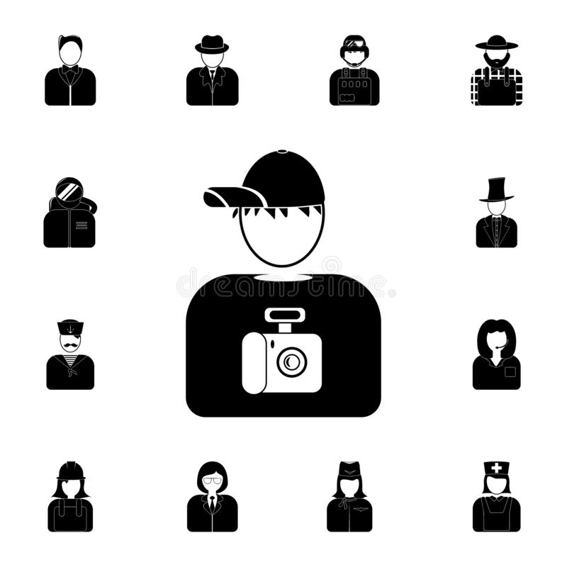avatar of the photographer icon. Detailed set of avatars of profession icons. Premium quality graphic design icon. One of the coll vector illustration