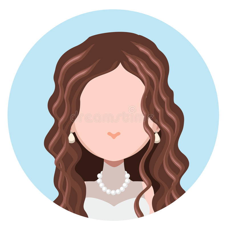 Avatar piano della donna elegante illustrazione vettoriale