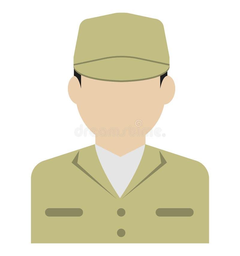 Avatar piatta di un giovane operaio/corpo superiore royalty illustrazione gratis