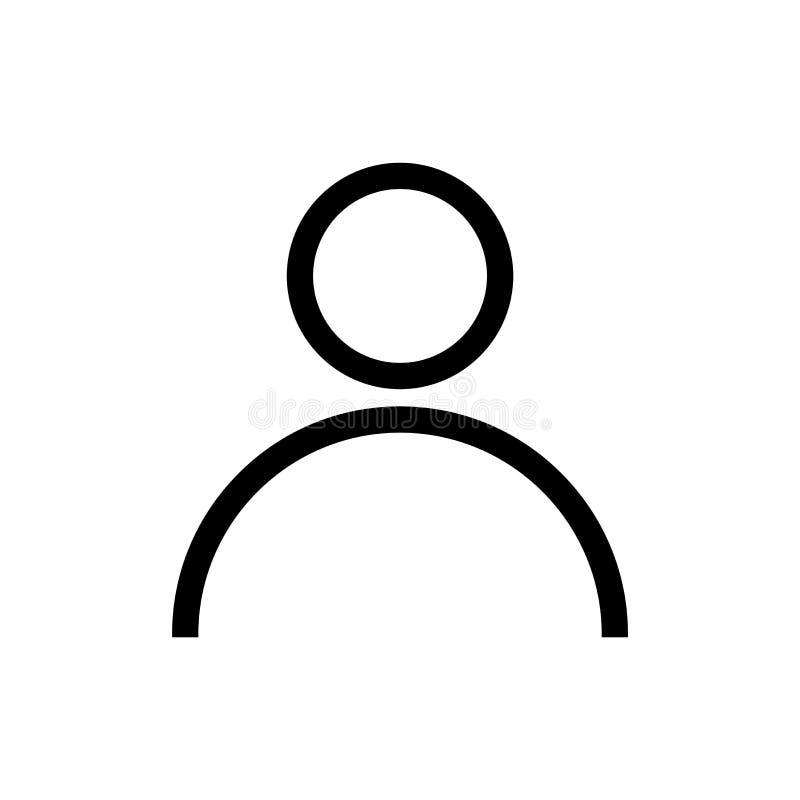 Avatar Pictogram Avatar vlak die symbool op wit wordt geïsoleerd stock illustratie