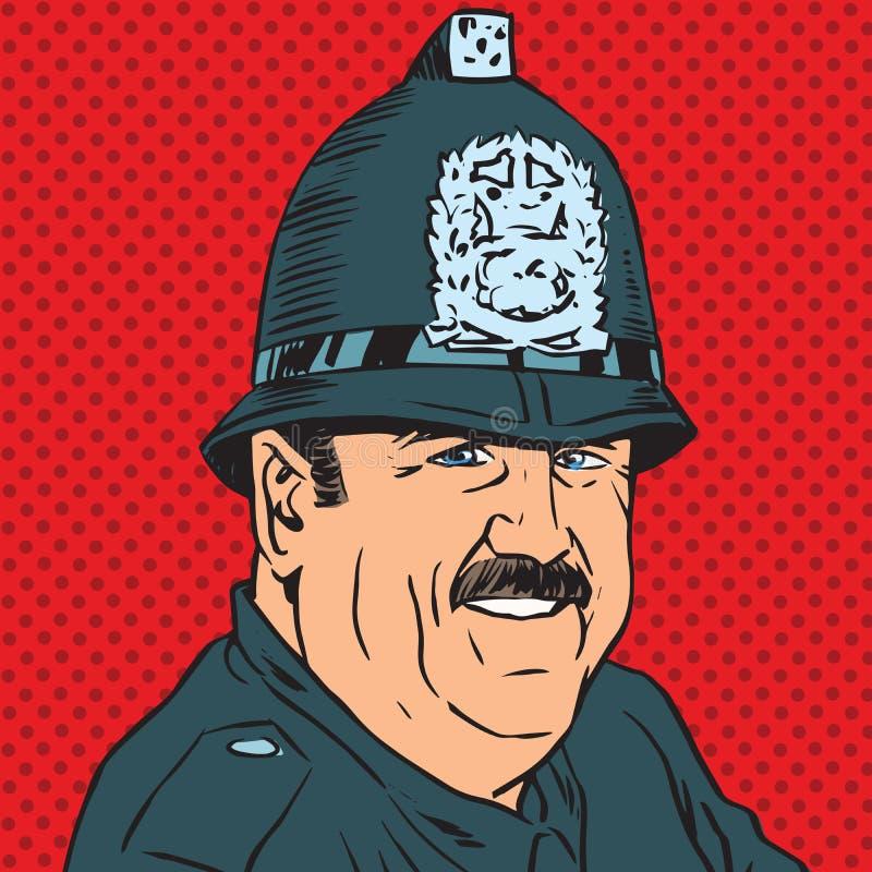 Avatar portret van een Britse politieman vector illustratie