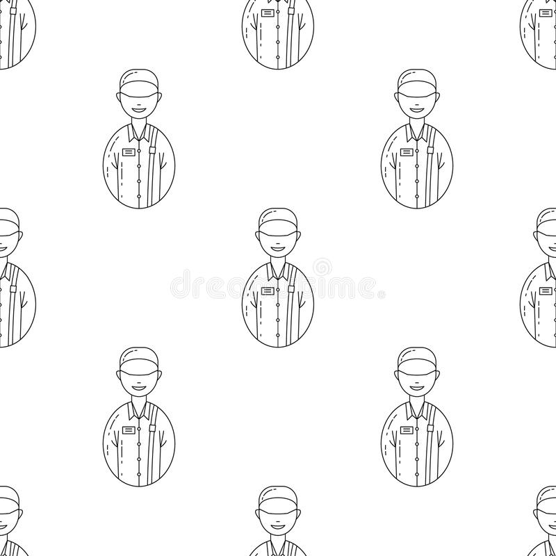 avatar postman icon. Element of Avatars icon for mobile concept and web apps. Pattern repeat seamless avatar postman icon. Can be royalty free illustration