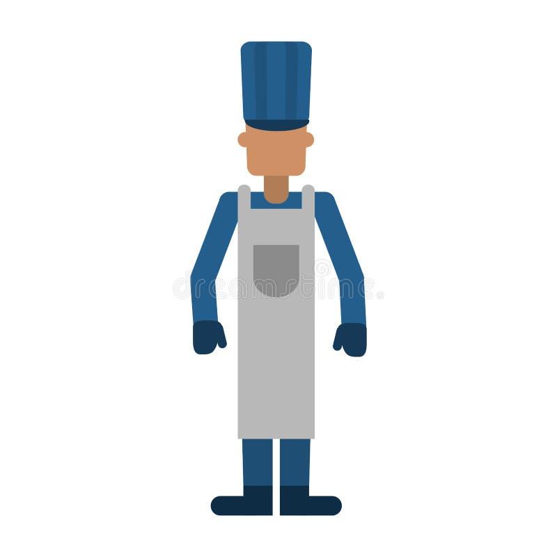 Avatar professionale del lavoratore del fornello del cuoco unico royalty illustrazione gratis