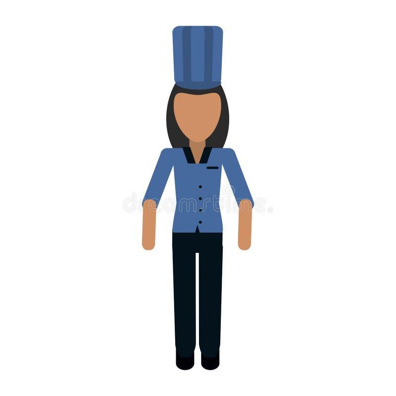 Avatar professionale del lavoratore del fornello del cuoco unico illustrazione vettoriale