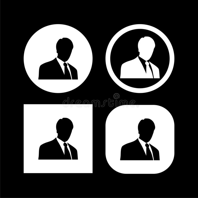 Avatar Profile Icon Isolated On Black Background Stock Vector Illustration Of Internet Girl 162271727 Polish your personal project or design with these human icon transparent png images, make it even more personalized and more attractive. dreamstime com