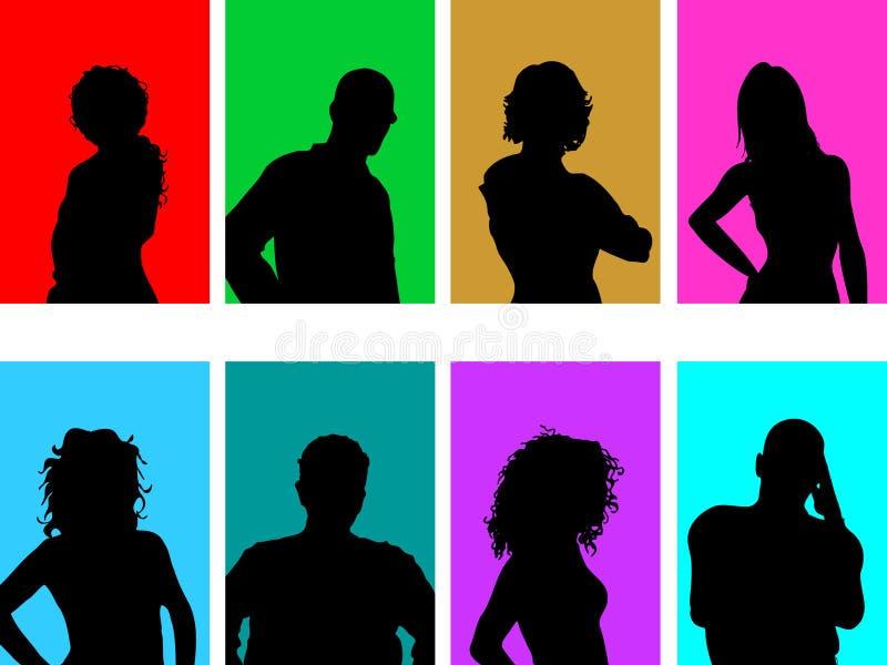 Download Avatar silhouettes stock illustration. Illustration of silhouettes - 8923085