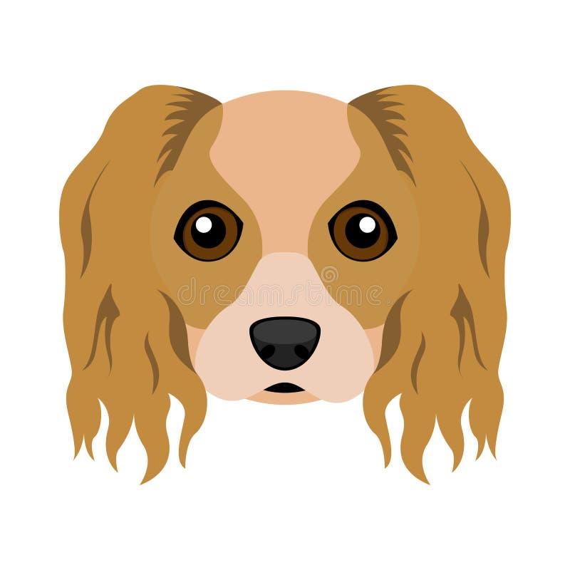Avatar sprezzante sveglio del cane dello spaniel di re charles illustrazione di stock
