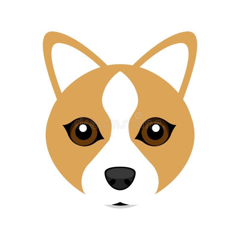 Avatar sveglio del cane del corgi di lingua gallese royalty illustrazione gratis