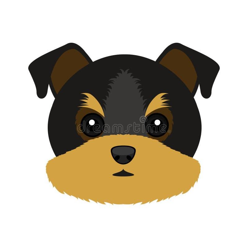 Avatar sveglio del cane dell'Yorkshire terrier royalty illustrazione gratis