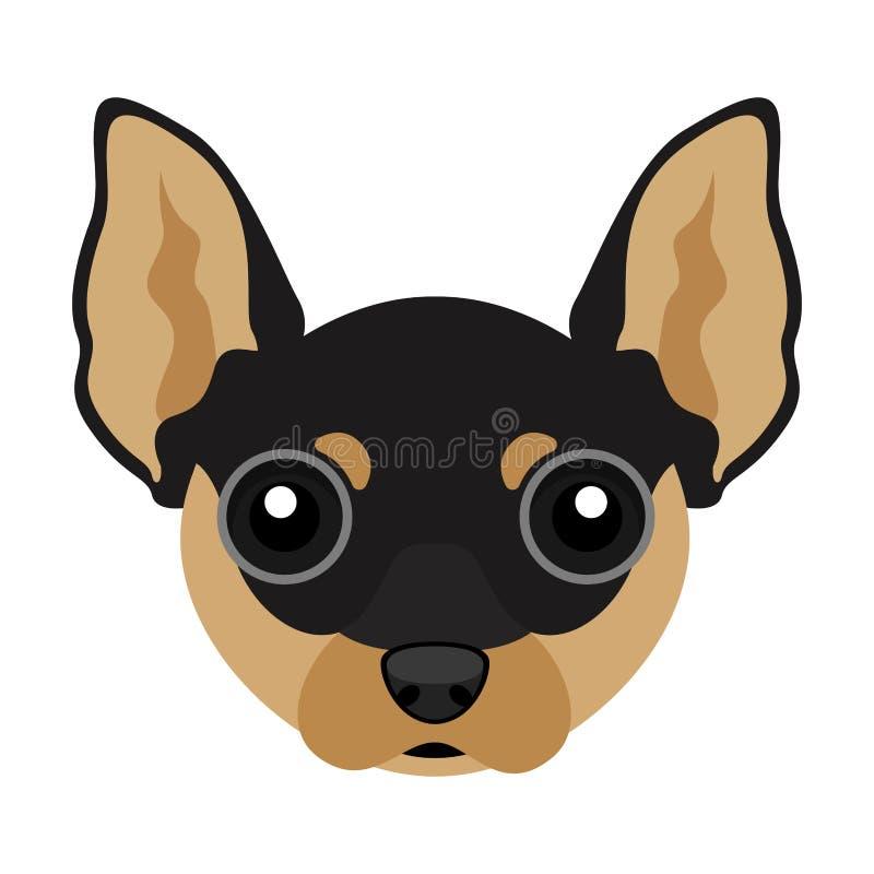 Avatar sveglio del cane della chihuahua royalty illustrazione gratis