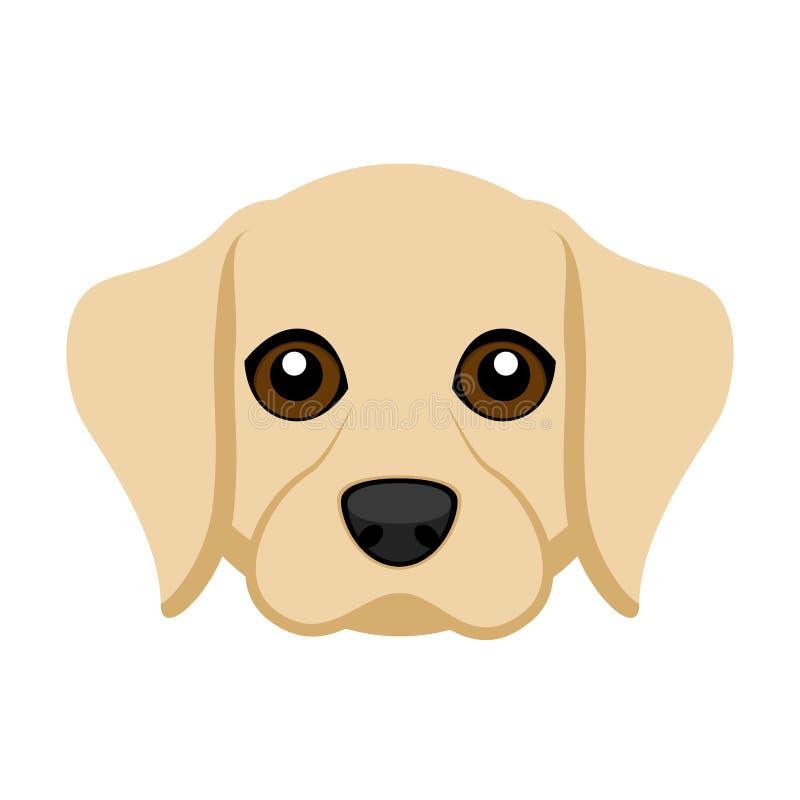 Avatar sveglio del cane di labrador retriever royalty illustrazione gratis