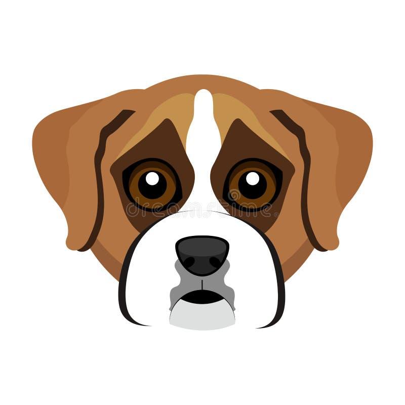 Avatar sveglio del cane del pugile illustrazione vettoriale