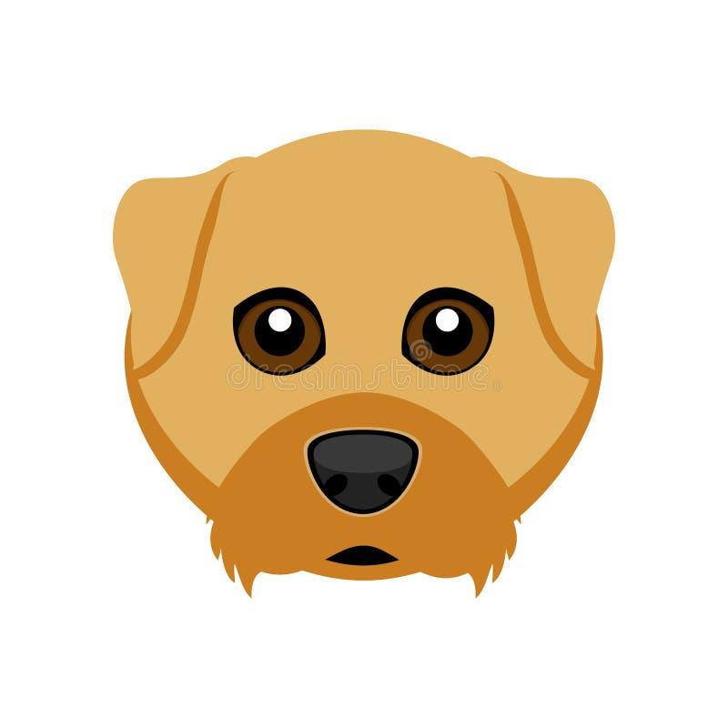 Avatar sveglio del cane del terrier di airedale illustrazione di stock