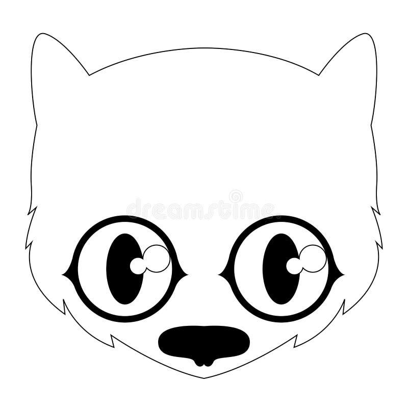 Avatar sveglio isolato del gatto nero royalty illustrazione gratis